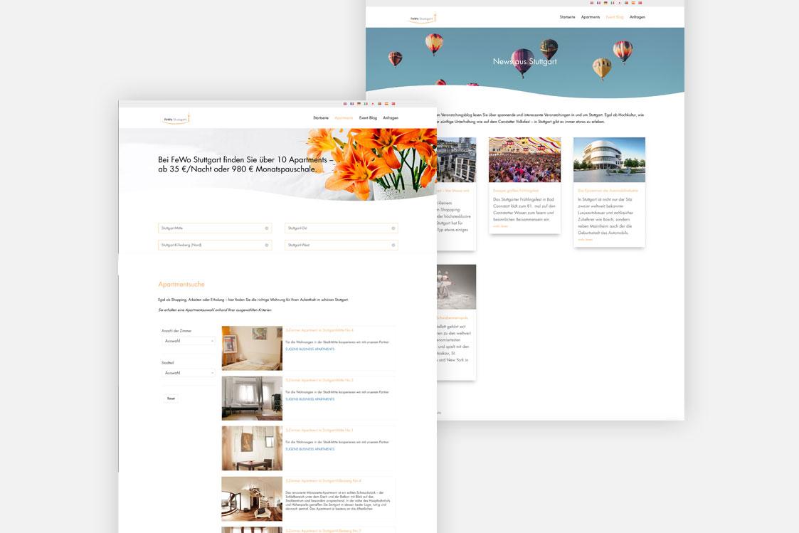 FeWo Stuttgart Website