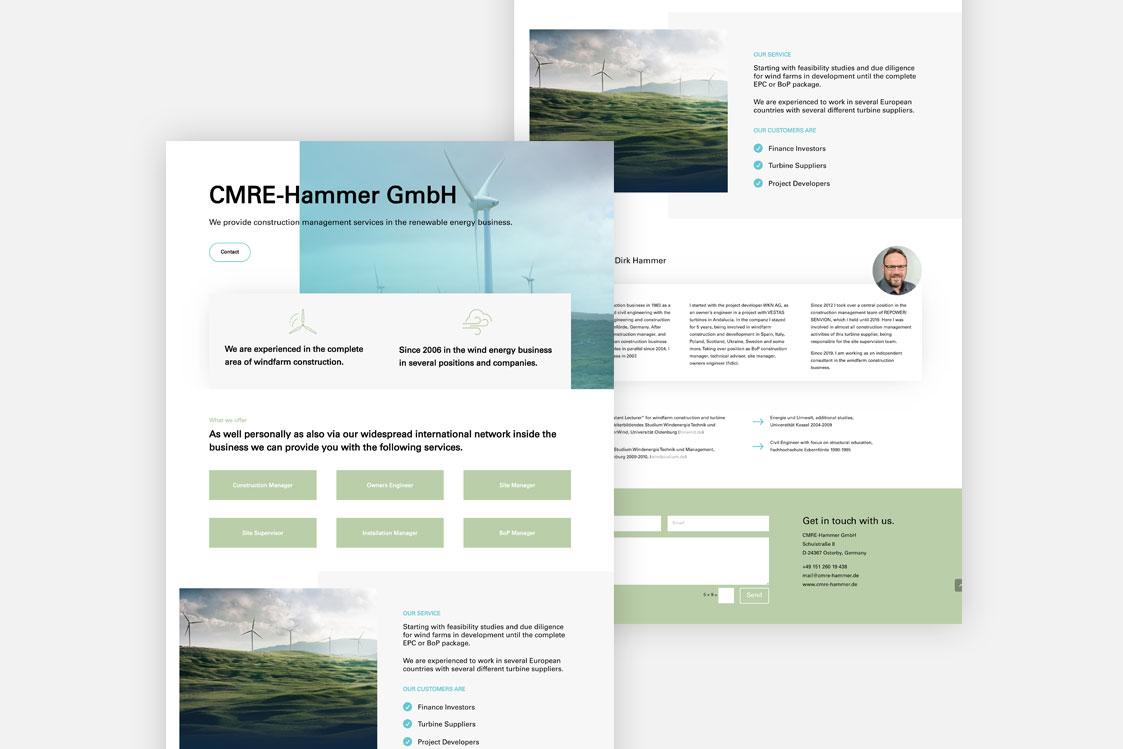 CMRE Hammer GmbH Webseite