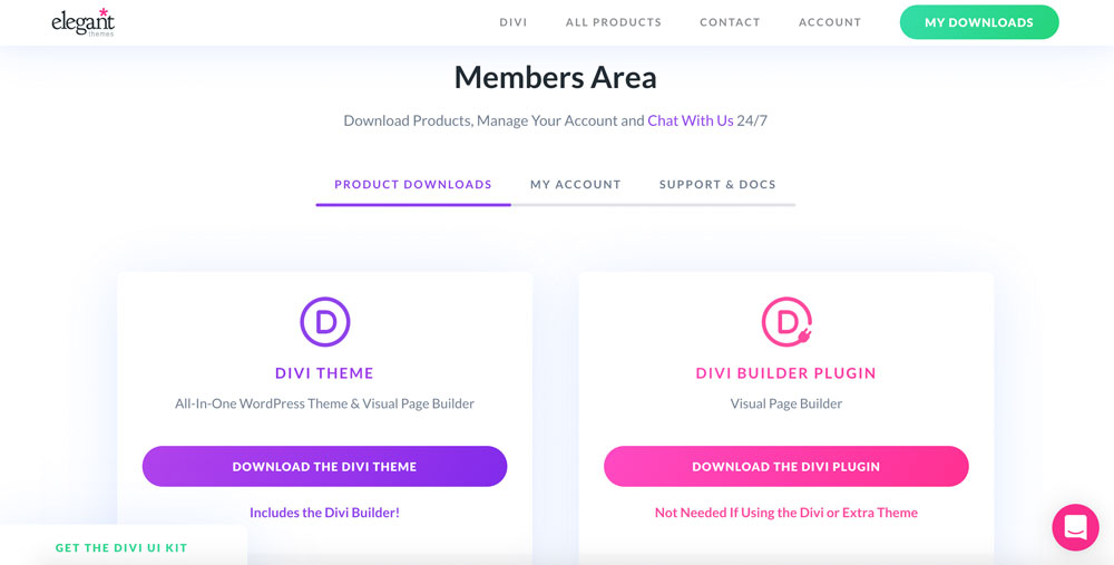 Divi Theme Members Area