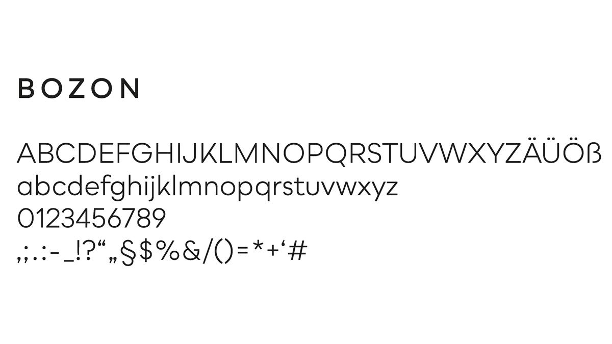 Bozon Schriftart fuer Renderoom Logodesign